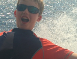 Joe enjoying our boat trip