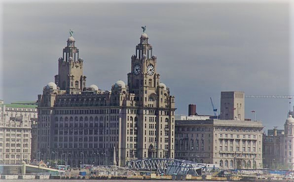 Liverpool's famous waterfront skyline
